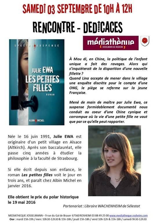 2016 08 09 mediatheque rosheim rencontre avec julie ewa