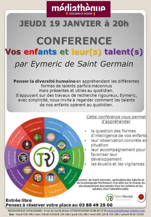 2017 01 09 conference rosheim vos enfants et leurs talents