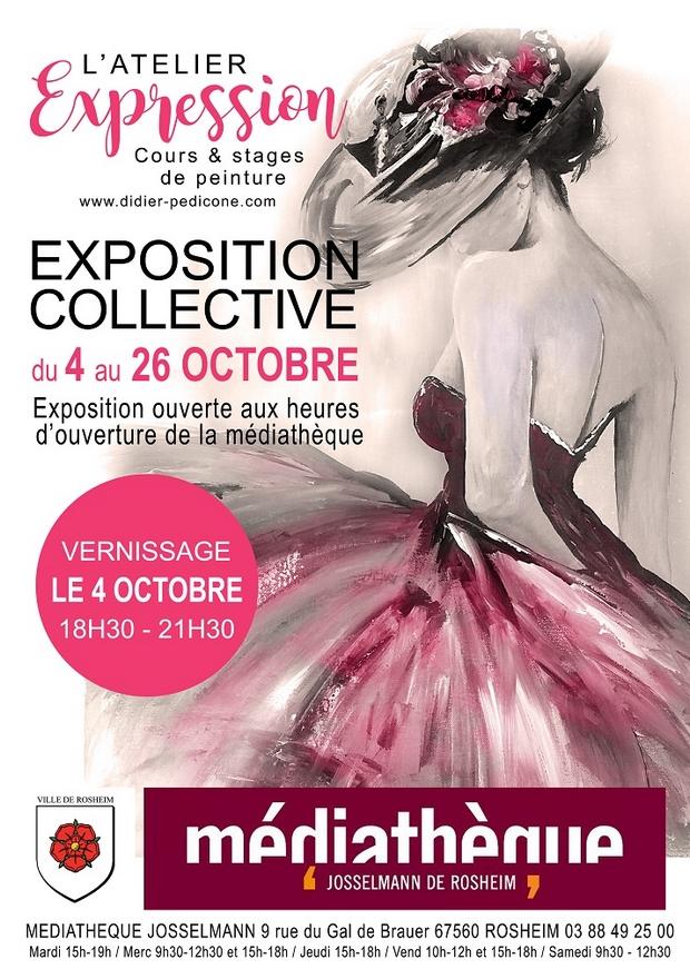 2019 09 27 exposition artistique a la mediatheque de rosheim