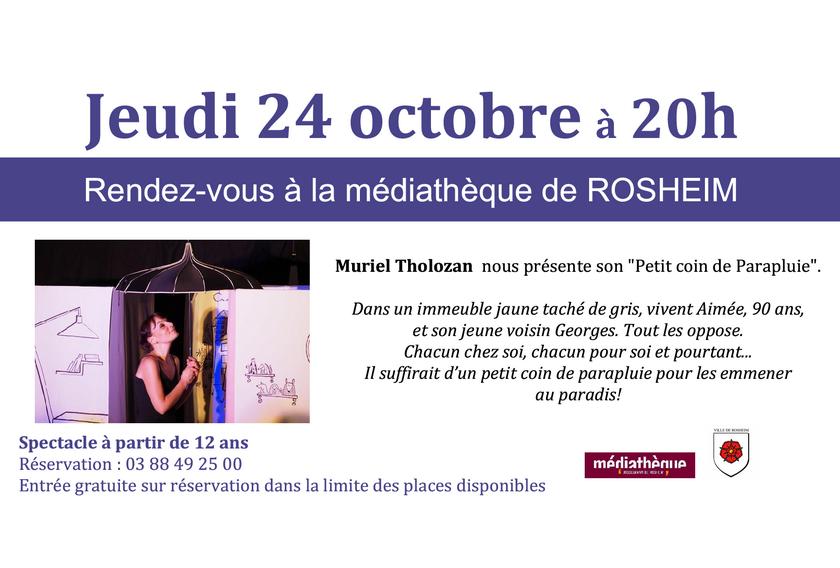 2019 09 27 spectacle de muriel tholozan a la mediatheque de rosheim