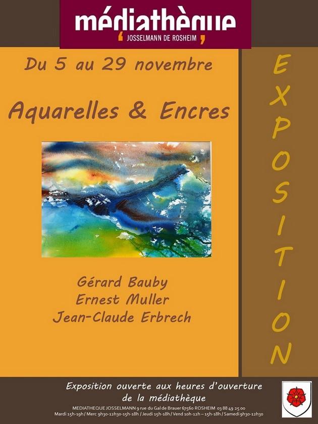 2019 10 23 exposition aquarelles et encres novembre 2019 a rosheim