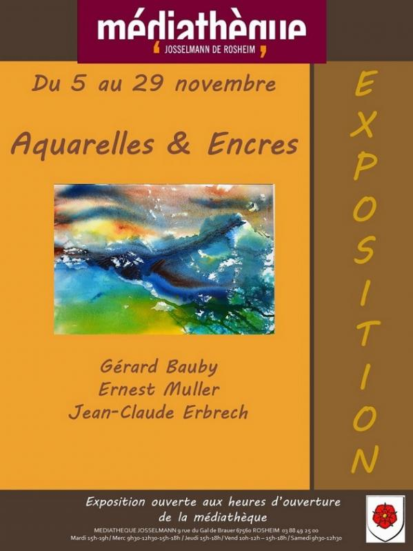 2019 11 07 exposition aquarelles et encres novembre 2019 a rosheim