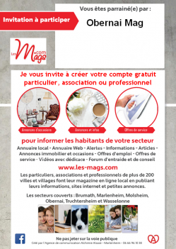 Carte d invitation obernai mag